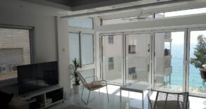 For Rent – 3 bedroom luxury first line sea view apartment in Tourist area, Limassol