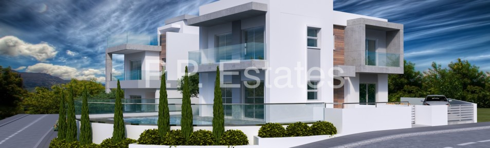 3 bedroom brand new detached house with roof garden & sea views in Parekklissia