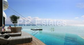 Luxury high rise 2 & 3 bedroom apartments opposite the beach in Potamos Yermasoyia