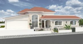 For Sale – Brand new 4 bedroom detached bungalow in Akrounda, Limassol