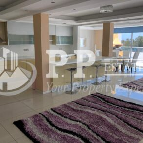For Rent - Spectacular 6 bedroom penthouse in gated complex opposite the seafront in Agios Tychonas, Limassol