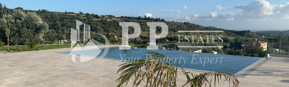 For Rent – Brand new contemporary 3 bedroom detached bungalow with view in Parekklisia, Limassol