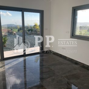 For Rent - Brand new contemporary 3 bedroom detached bungalow with view in Parekklisia, Limassol