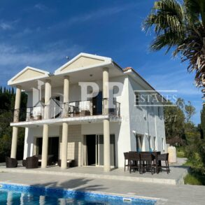 For Sale - 4 bedroom detached villa with lovely views in Parekklisia, Limassol