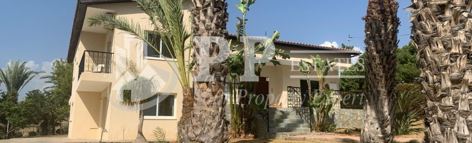 For Rent – 3 bedroom + maid's room detached house in Parekklisia, Limassol